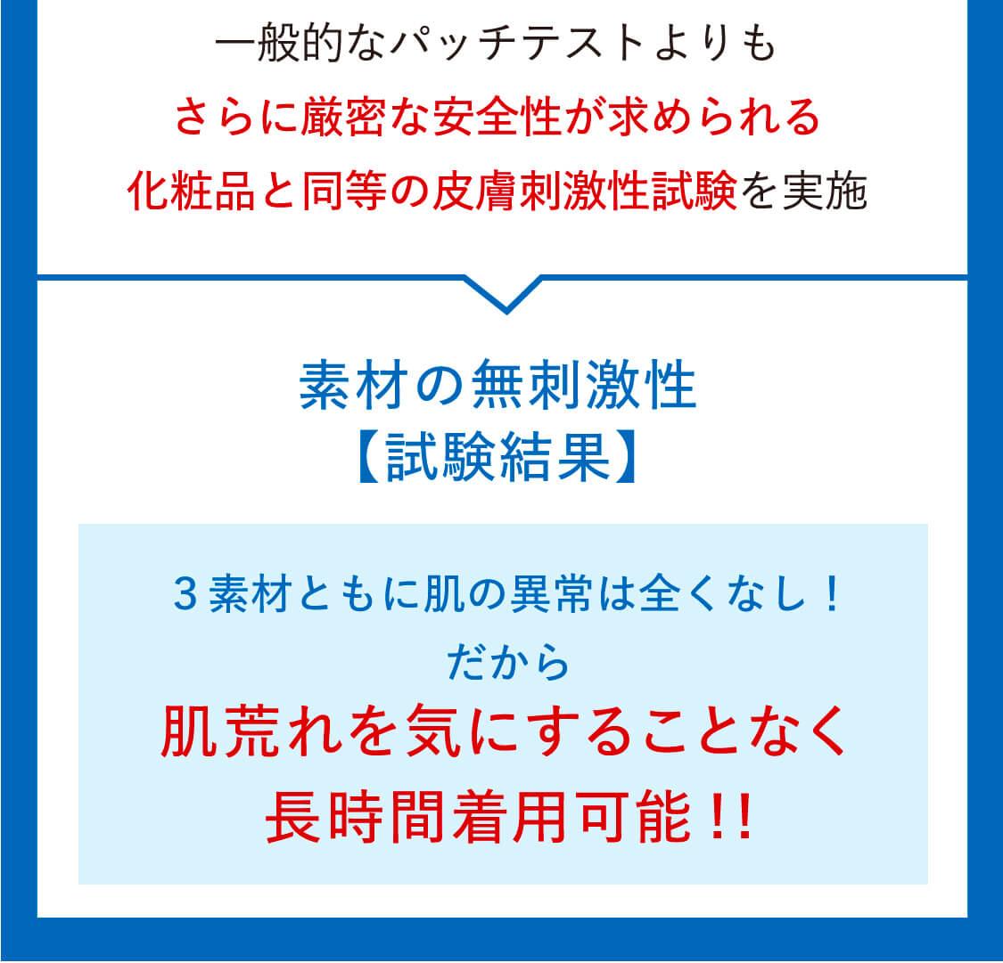 素材の無刺激生【試験結果】